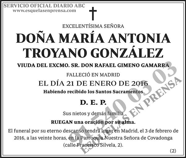María Antonia Troyano González